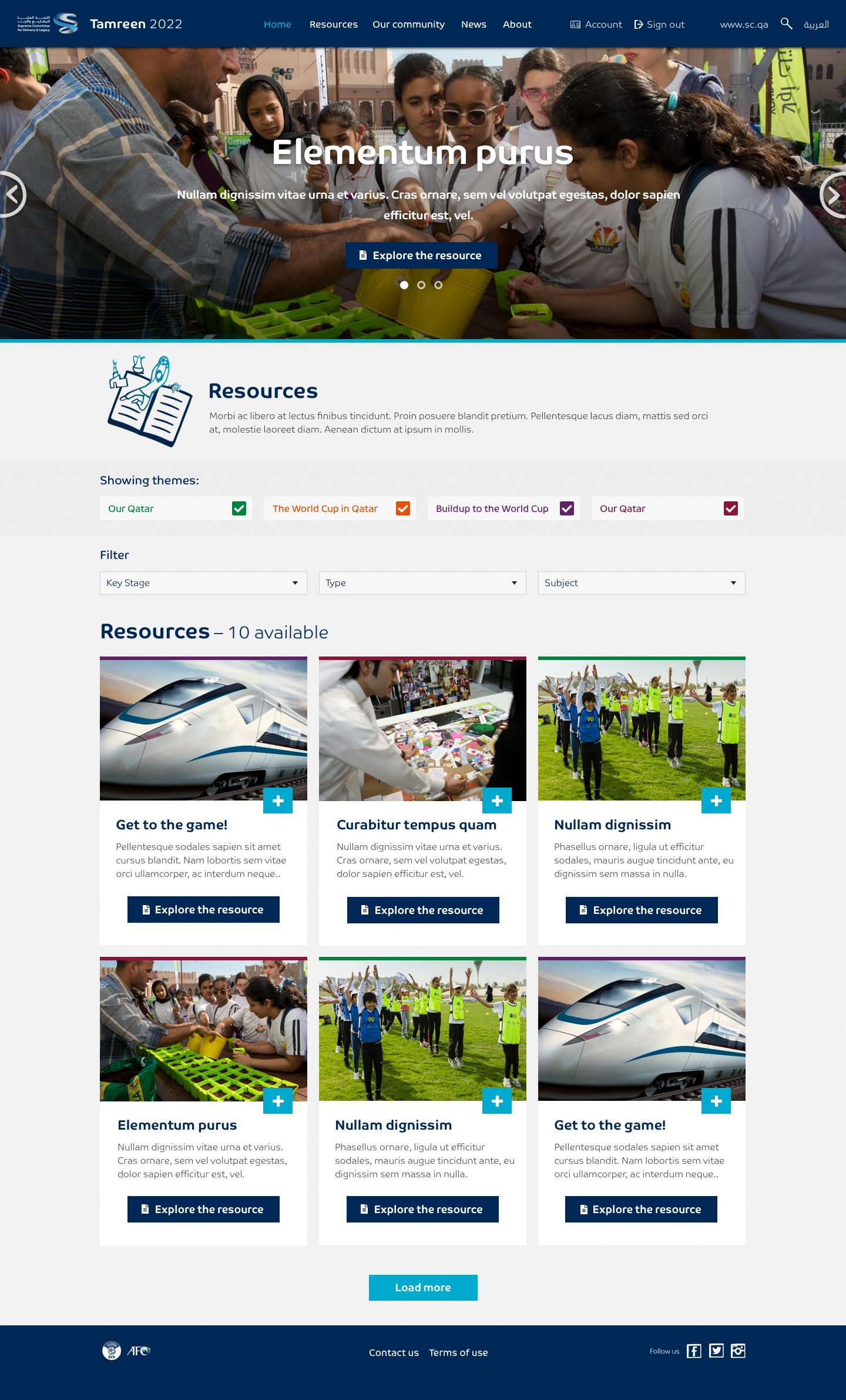 Tamreen 2022 – 2.0 Resources