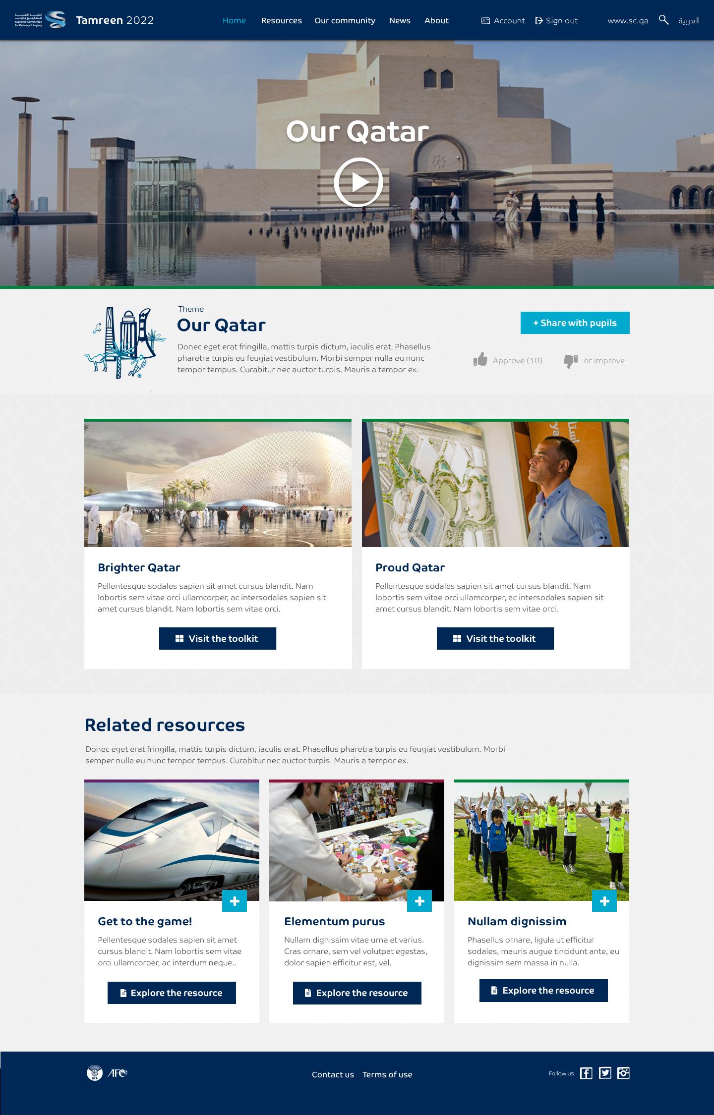 Tamreen 2022 – 2.1 Resources – Themes